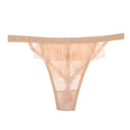 RangYR Sexy ropa interior mariposa nudos lencería traje, color carne, F
