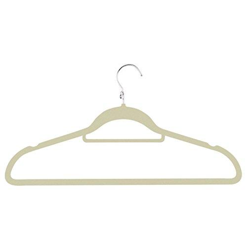 Honey-Can-Do HNG-02000 Cascading Velvet Touch Suit Hanger, 3-Pack, Ivory
