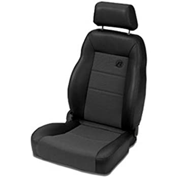 Bestop 39460-15 TrailMax II Pro Black Denim Front Vinyl with Fabric Insert High Back Passenger-side Jeep Seat for 1976-2006 Jeep CJ and Wrangler