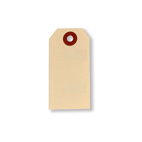 UltraSource Shipping Eyelet Tags, 1.625'' x 3.25'' Manila (Pack of 1000) by UltraSource