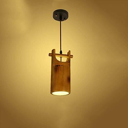 Intérieur Lustres Luminaires Eclairage De Plafond Restaurant Bamboo Plafonnier Pour Chambre à Coucher Salon Dessert Shop Bar Café Lustre Suspension E27