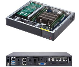 Supermicro SuperServer SYS-E300-9D w/Intel Xeon D-2123IT, 2 x 10GBase-T 10Gb/s LAN