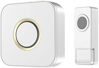 MoKo Wireless Doorbell Waterproof Pressed Button Door Chime52 Musics 4-Level Adjustable Volume Work Up to 1000ft (304.8m) Range in The Open Air Suitable for Home Classroom Office - White