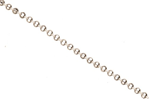 Faceted Ball Chain, Silver Plated 1.5mm Ball Sold Per 5 Ft/pack (4packs bundle), SAVE $3 ()