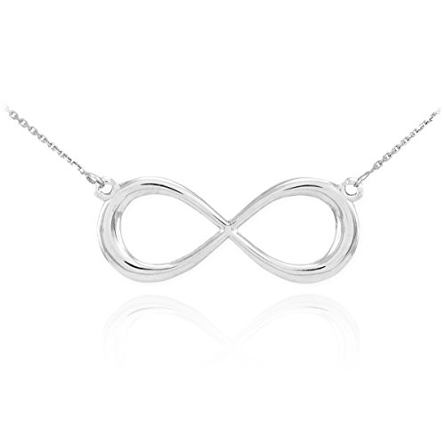 925 Sterling Silver Dainty Forever Infinity Necklace with 18