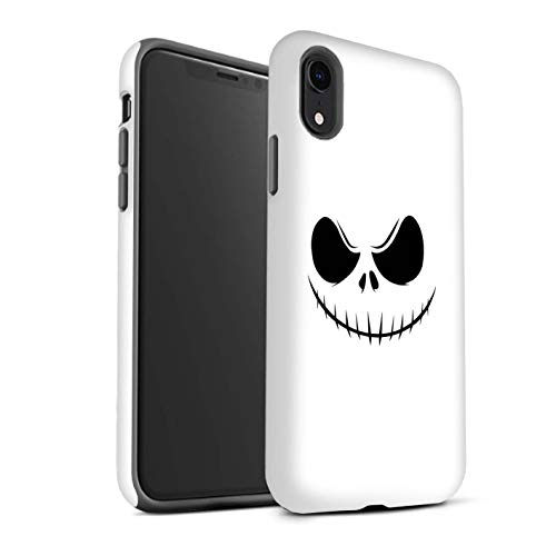 eSwish Gloss Tough Shock Proof Phone Case for Apple iPhone XR/Jack Skellington Inspired Art Design/Horror Movie Art Collection