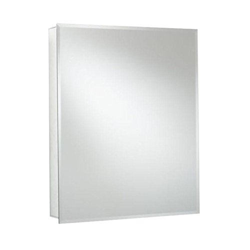 Croydex Langley 26-Inch x 20-Inch Recessed or Surface Mount Medicine Cabinet with Hang 'N' Lock Fitting System, Aluminum