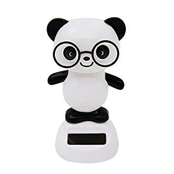Panda Ornament - TOOGOO(R)Solar Power Dancing Figures Panda,Novelty Desk Car Toy Ornament -
