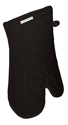 n, Terry-Lined Oven Mitt, 13-Inches, Onyx ()