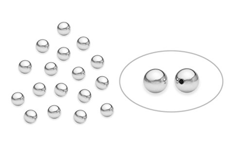 100 Pieces Sterling Silver Round Bead 4 mm