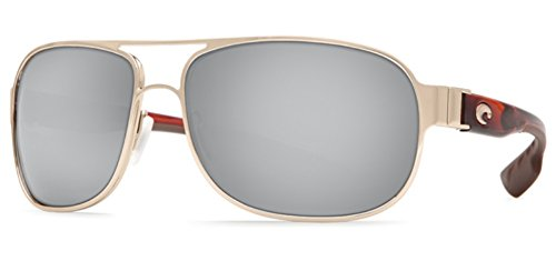 Costa Del Mar Conch Sunglasses Rose Gold w/ Light Tortoise/Silver Mirror - Costa Gold