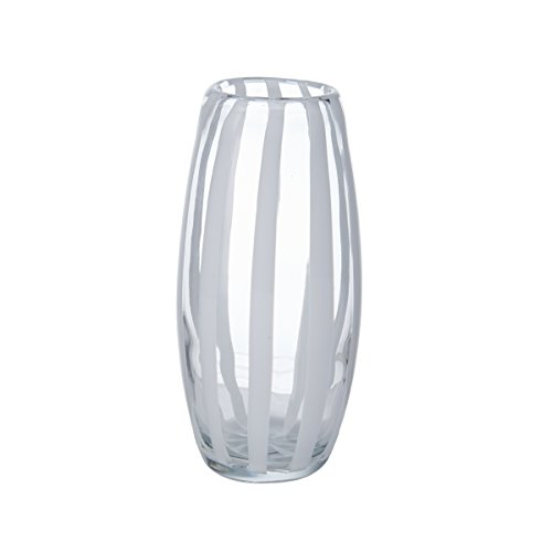 Mikasa Artisan Series White Ribbon Vase, 9.5-Inch
