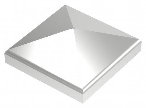 Pyramidenkappe, geschliffen, Ecken überschliffen, 50x50mm Ecken überschliffen edelstahlonline24