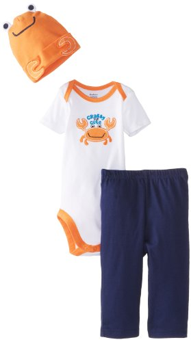 Gerber Baby-Boys Newborn 3 Piece Boys Bodysuit Cap Pants