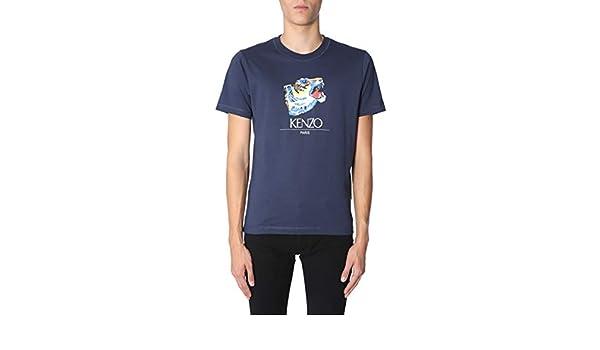 Kenzo Hombre F865TS0274YR78 Azul Algodon T-Shirt: Amazon.es: Ropa y accesorios