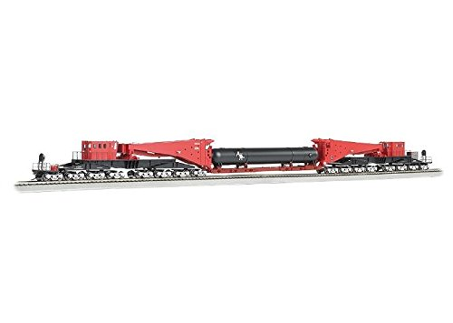 (Bachmann Industries 380 Ton Schnabel Retort/Cylinder Load Freight Car, Red/Black)