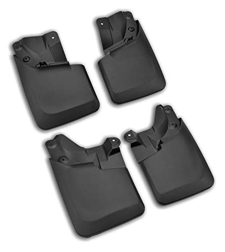 (Tecoom Mud Flaps Splash Guards Front and Rear 4Pcs Set for 2016-2019 Toyota Tacoma with OEM Fender Flares ABS Molded)