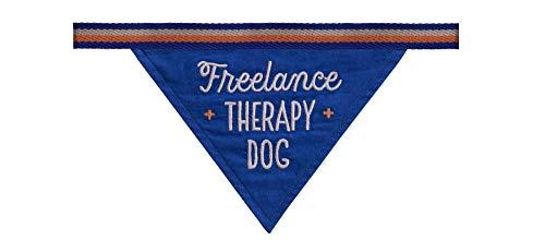 Easy, Tiger Dog/Pet Bandana, Freelance Therapy Dog, Blue