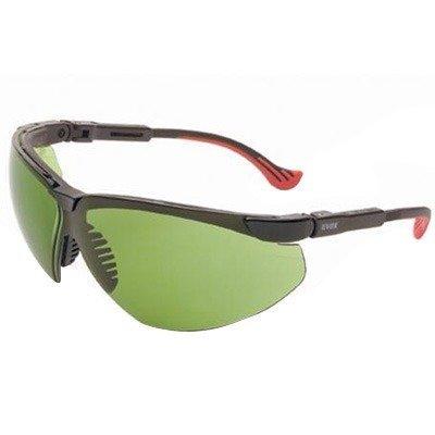 (Uvex S3305 Genesis XC Safety Eyewear, Black Frame, Shade 2.0 Infra-Dura Ultra-Dura Hardcoat Lens by)