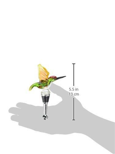 LSArts Wine Bottle Stopper, Springtime Humming Bird by LSArts (Image #1)