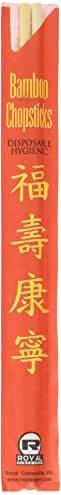 Royal Paper Premium Disposable Bamboo Chopsticks Sleeved and Seperated (Set of 100), 9