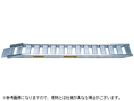 【昭和】 アルミブリッジ SH-全長360-40-2.2S 【ベロ式】 【有効長さ3400×有効幅400(mm)】 【最大積載2.2t/セット(2本)】 B003GXY9S2