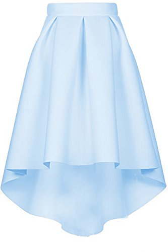 CoutureBridal Femme Jupe Elgante Jupe Vintage Haille Haute au Genou Bleu