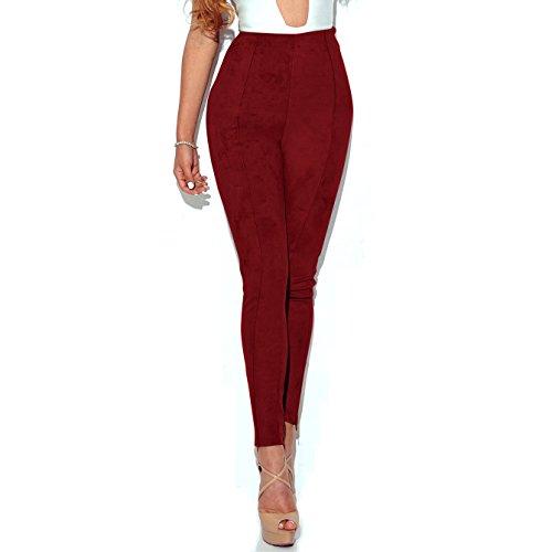 CHENMA - Jeans - Femme Rouge Vin
