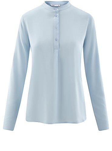 Camicetta ad Blu Viscosa 7002n Linea Donna A in Collection oodji AxgnEE