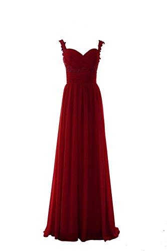 YiYaDawn -  Vestito  - linea ad a - Donna rosso vivo 44