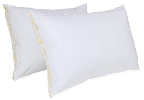 BioPEDIC Sleep Styles Medium Density Gusseted Sidewall Bed Pillow, Standard, White, 2-Pack