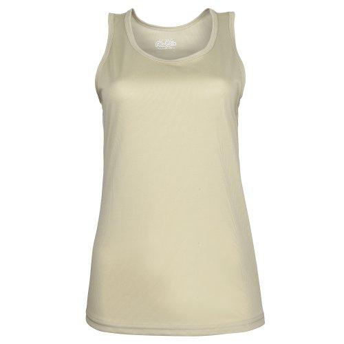 Just Cool- Camiseta de tirantes ajustada para mujer Amarillo eléctrico