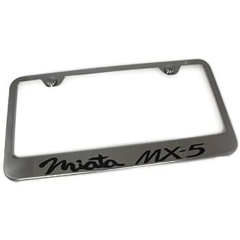 Amazon.com: Mazda Miata MX5 Chrome Frame Mirror Chrome License Plate ...