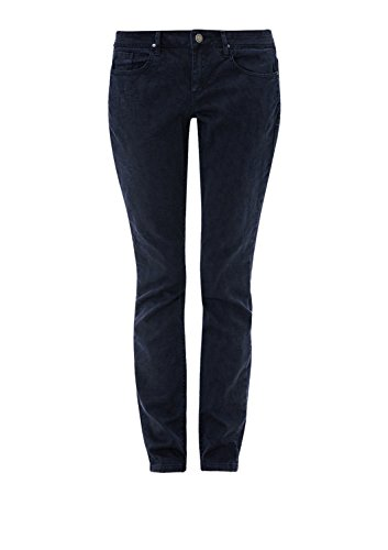 s.Oliver Damen Jeans Hose Shape Slim mit Muster Navy ITzQLbaanx
