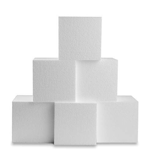 Silverlake Craft Foam Block - 6 Pack of 6x6x6 EPS Polystyrene Styrofoam Cubes for Crafting, Modeling, Art Projects and Floral Arrangements - Sculpting Block for DIY School & Home Art Projects]()