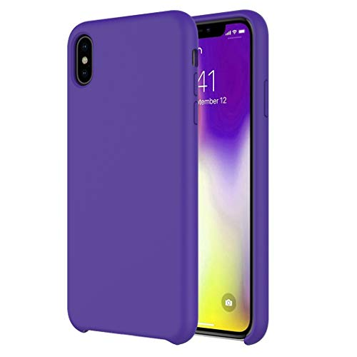 Case for iPhone Xs Max Case [Romance Series] Liquid Silicone Rubber Shockproof Case Soft Microfiber Cloth Lining Cushion Compatible with iPhone Xs Max 6.5