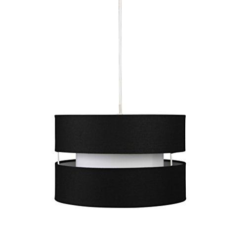 Large Black Drum Pendant Light
