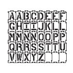 Quadra-Lock - Interlocking Alphabet Stencils - 6 inch - 40 mil ultraflex ind by Stencil Ease
