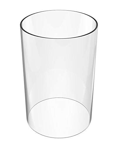 (Amayan Cylinder Glass Vase Open End Chimney Lampshade Open End - 8