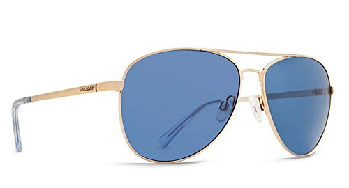 Veezee - Dba Von Zipper Farva Aviator Sunglasses, Gold/Blue, 59 - Sunglasses Revolve