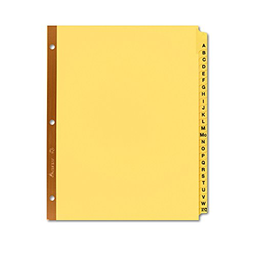 Avery 11306 Preprinted Laminated Tab Dividers w/Gold Reinforced Binding Edge, 25-Tab, Letter