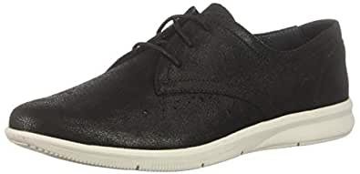 ROCKPORT Women's Ayva Oxford Sneaker, Black, 5 M US