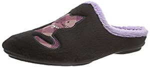 Florett Mimi, Damen Pantoffeln, Schwarz (schwarz), 38 EU