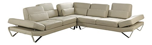 At Home USA – Bianca Beige Sectional Couch