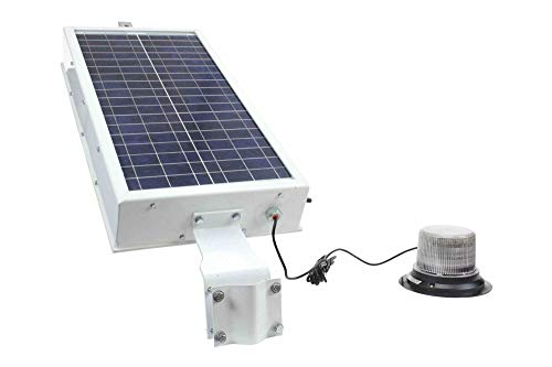 Solar Powered LED Beacon - Class I 30 Strobing Patterns - Day/Night Sensor w/Timer - 10' SOOW Cord