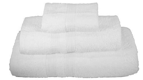 La Calla Luxury Hotel Bath Towel Set - 3 Pieces (Bath Towel, Hand Towel, Face Towel) - 100% Turkish Soft Cotton (White, 1)