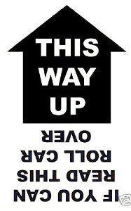 This Way Up , Decal / Sticker 19cm Black 4x4: Amazon.co.uk ...  This Way Up , D...