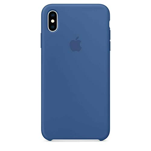 (iPhone XR Liquid Silicone Case Fits iPhone XR (6.1 inch), Gel Rubber Protection Shockproof Cover Case with Soft Microfiber Cloth Lining Cushion (Delft Blue))