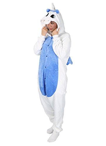 Luojida Unicornio Disfraz Animal Carnaval Cosplay Pijamas Adultos Unisex Ropa De Noche (S, Blu): Amazon.es: Juguetes y juegos