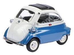 BMW Isetta Export Blue and Gray Limited Edition to 1,000 pieces Worldwide 1/18 Diecast Model Car by Schuco 450041100